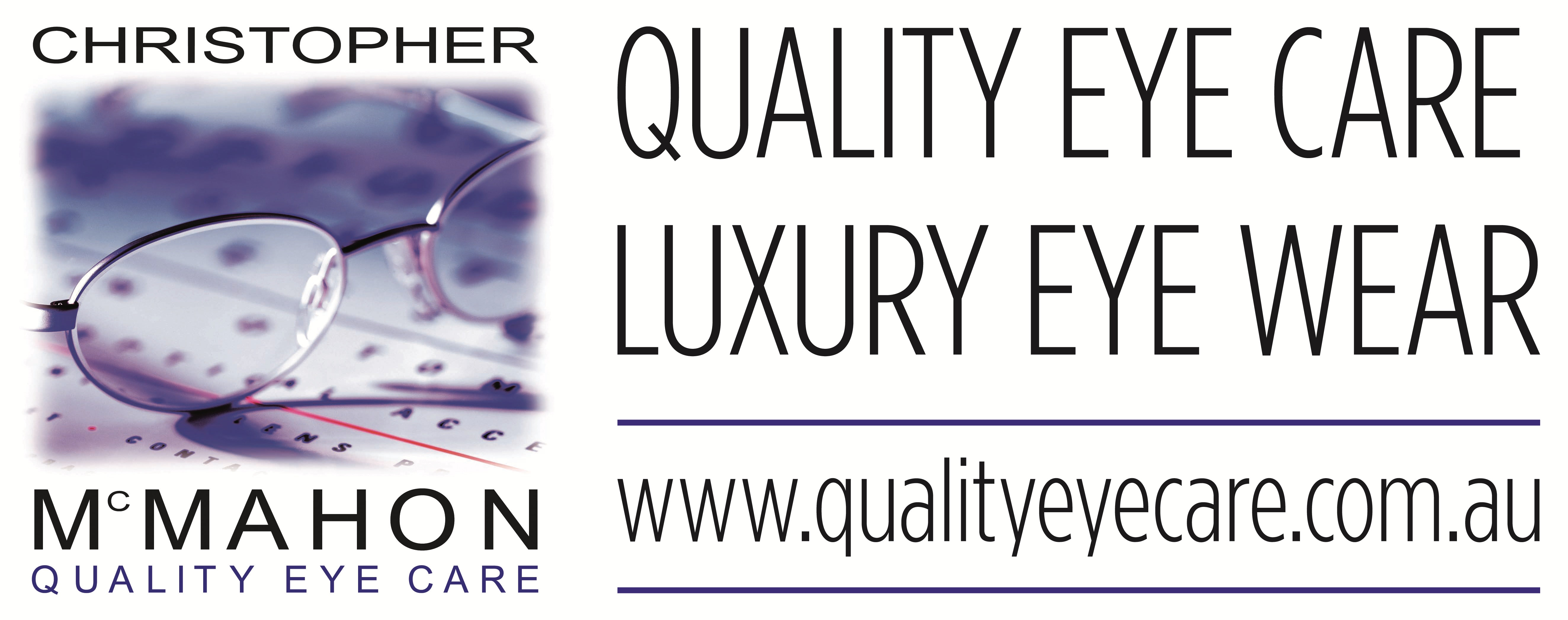 logo for Christopher McMahon Quality Eye Care - Runaway Bay Optometrists