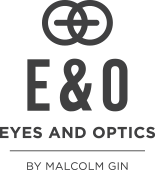 logo for Eyes and Optics by Malcolm Gin Optometrists