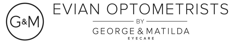 logo for Evian Optometrists by George & Matilda Eyecare - St Leonards Optometrists