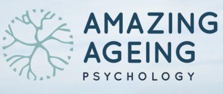 logo for Amazing Ageing Psychology Psychologists