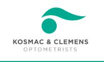 logo for Kosmac & Clemens Optometrist Castlemaine  Optometrists